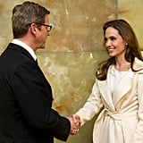 Angelina Jolie with the German Foreign Minister.