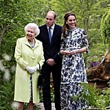 "May: Kate opened her ""Back to Nature"" garden during the Chelsea Flower Show."
