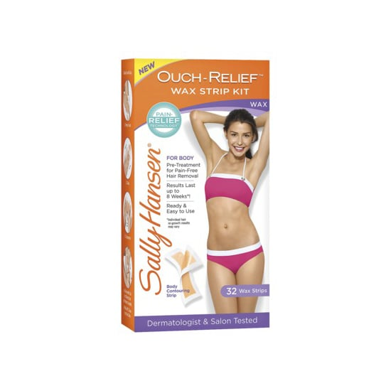 Face it: waxing can be a painful way to remove hair, but it's pretty effective. If you like to do your waxing at home, then try Sally Hansen Ouch-Relief Wax Strip Kit ($9). It includes numbing wipes to minimize the cursing, teeth-clenching part of hair removal.