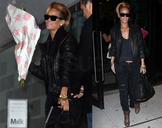 """Photos of Rihanna Leaving an NYC Studio and Her New Single """"Russian Roulette"""""""
