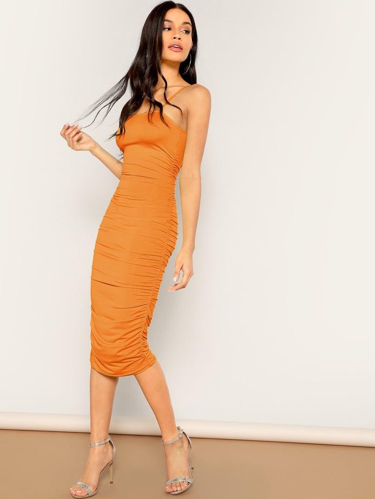 Shein Ruched Cami Pencil Dress