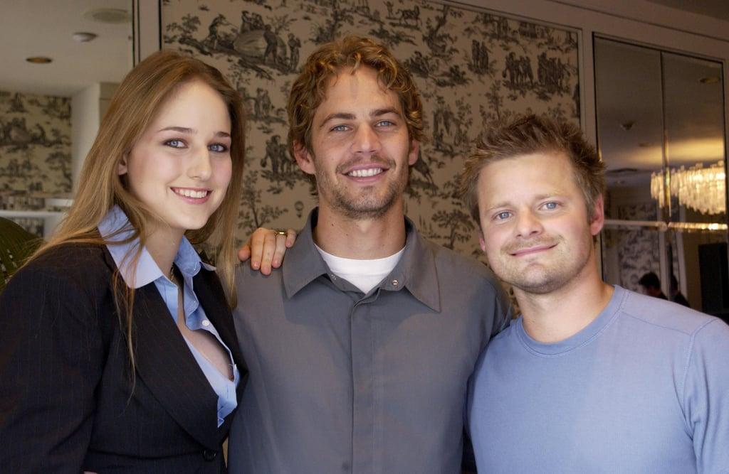 At the September 2001 Toronto International Film Festival, Paul Walker posed with his Joy Ride co-stars Leelee Sobieski and Steve Zahn.