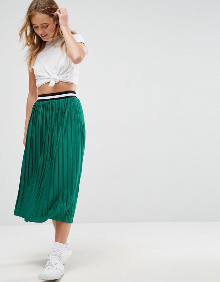 d89c803e59 Asos Pleated Midi Skirt | How to Wear a Skirt For Fall 2017 ...
