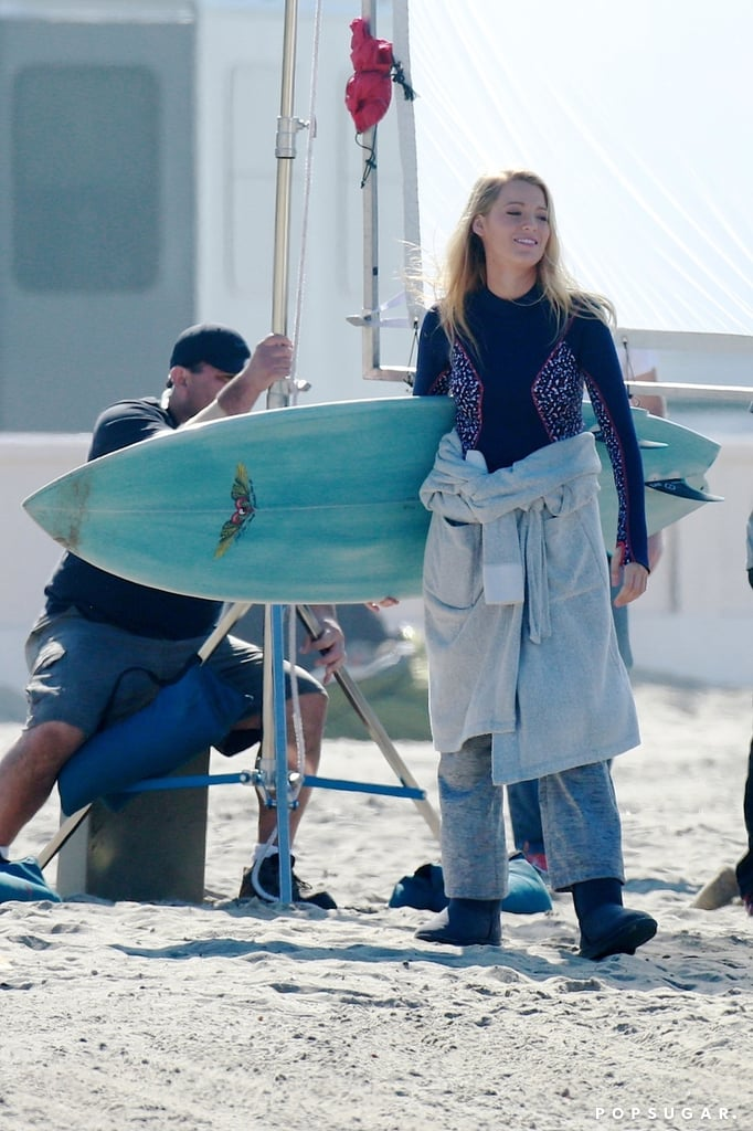Blake Lively Pregnant on Set April 2016