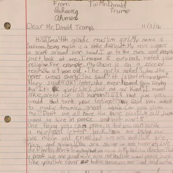 Fourth Grade Muslim Girl Writes Donald Trump a Letter