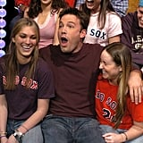 Ben Affleck surprised some fans by jumping into the audience during a March 2004 appearance on TRL in NYC.