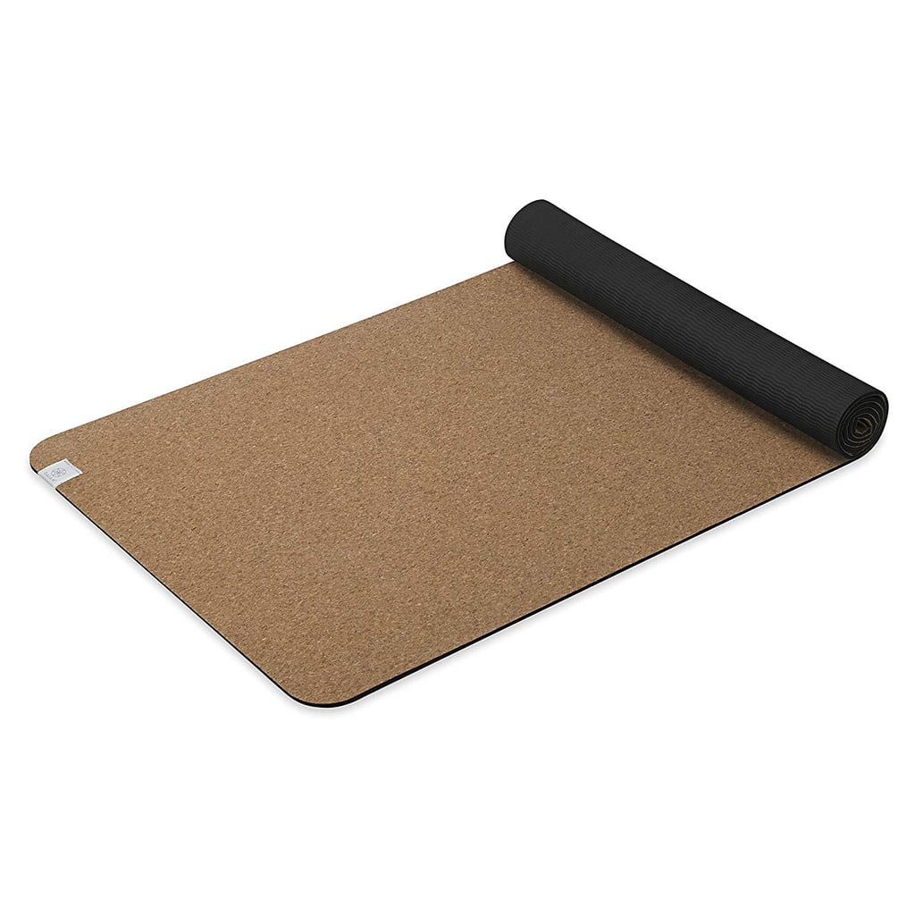 Gaiam Yoga Mat Cork with Non-Toxic Rubber Backing