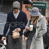 Blake Lively chatted with Ryan Reynolds on a morning coffee run.