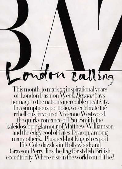 Lily Cole does Harper's Bazaar UK-october 09