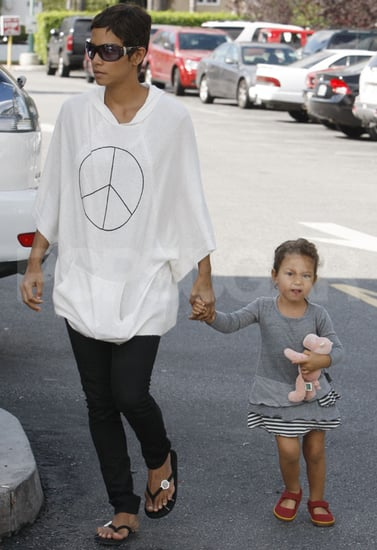 Pictures of Halle Berry and Nahla Aubry Shopping in LA
