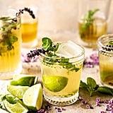 White Tea and Muddled Basil Cocktail