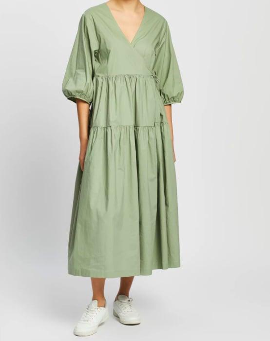 Ceres Life Picnic Wrap Dress ($129.99)