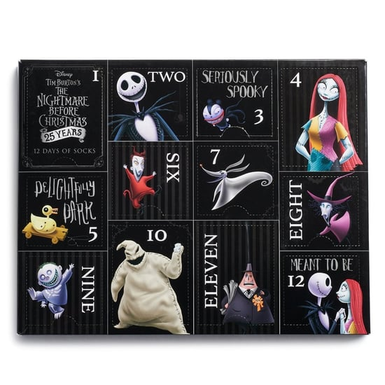 The Nightmare Before Christmas Sock Advent Calendar 2018
