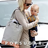 January Jones stepped out with baby son Xander in March 2012 in LA.