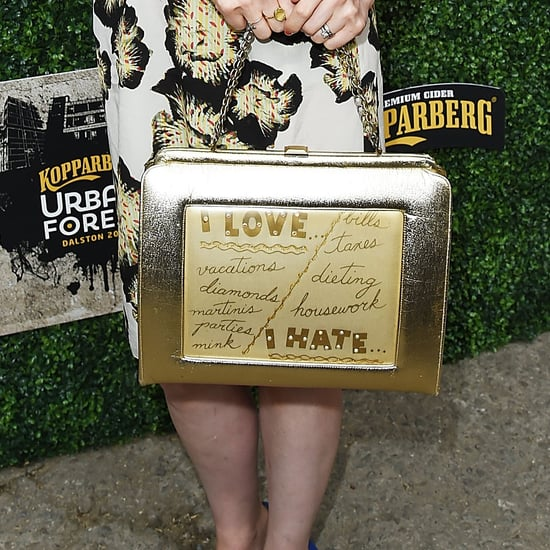 Sophie Ellis-Bextor's Gold Love and Hate Handbag