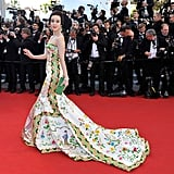 Fan Bingbing posed on the red carpet at the opening of the Cannes Film Festival.