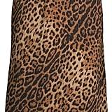 Scoop Midi Printed Slip Skirt