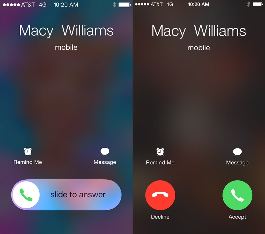 iphone accepting calls slider versus buttons popsugar australia tech. Black Bedroom Furniture Sets. Home Design Ideas