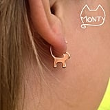 Rose Gold Plated Sterling Silver Earrings ($22)