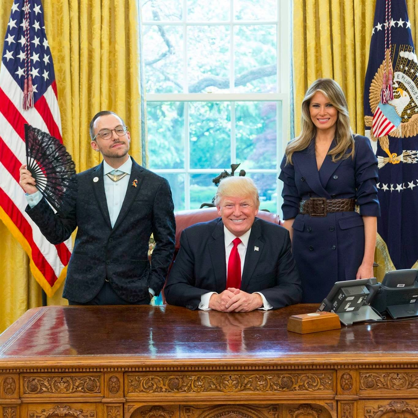 teacher white house photo with donald and melania trump