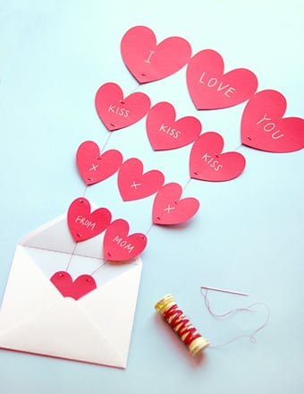Heart Garland Printable