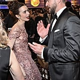 Pictured: Justin Timberlake and Lily Collins