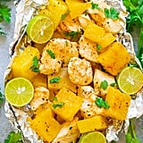 Grilled Cajun Chicken and Pineapple Foil Packets