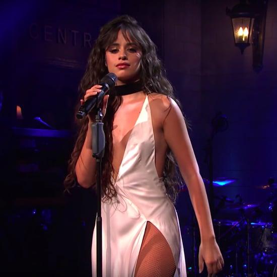 Camila Cabello Wears High-Slit Dress on Saturday Night Live