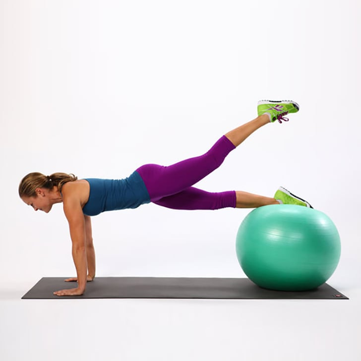 Ball Planks With Leg Lifts