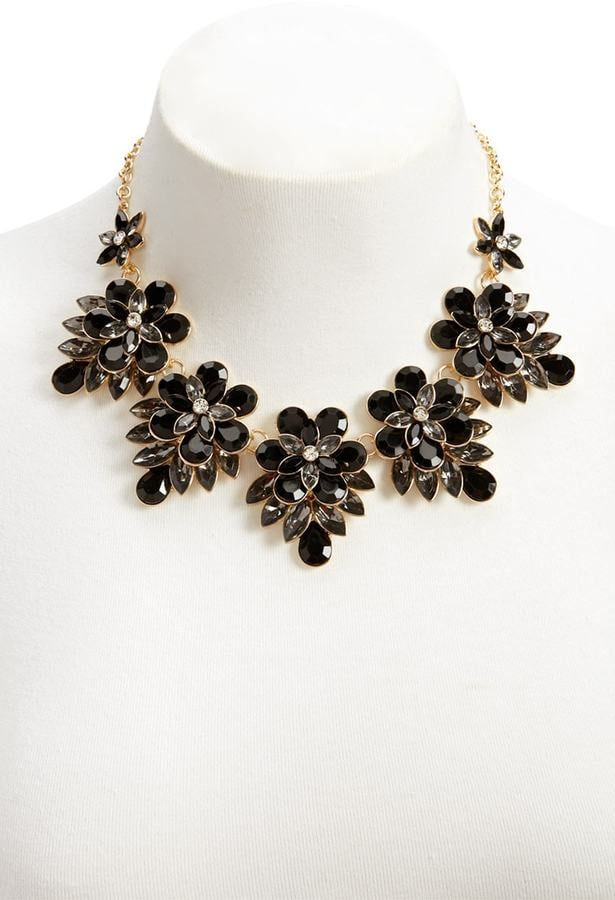 Forever 21 Floral Statement Necklace | Cheap Holiday Jewelry ...