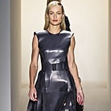 Calvin Klein offered up sharply tailored outfits with bold belts for Fall 2013.
