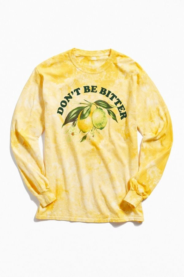 9c0b90c471ae3 Urban Outfitters Don't Be Bitter Long Sleeve Tee | Tie Dye Trend For ...
