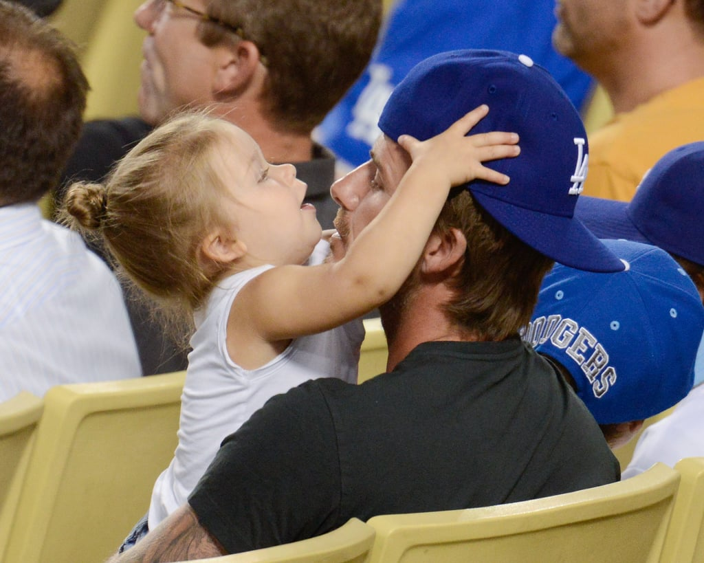 Harper and David were too sweet together during an LA Dodgers game in August 2013.