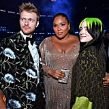 Finneas O'Connell, Lizzo, and Billie Eilish at the 2020 Grammys