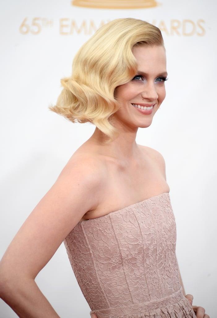 January Jones at the Emmy Awards