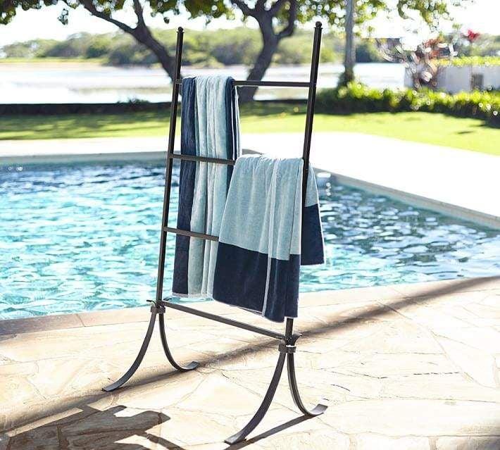 Bronze Pool Storage Leaning Towel Bar