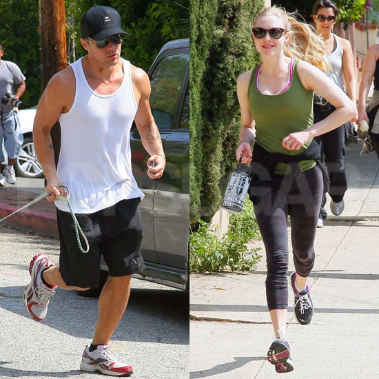 Pictures of Amanda Seyfriend and Ryan Phillippe Running Together