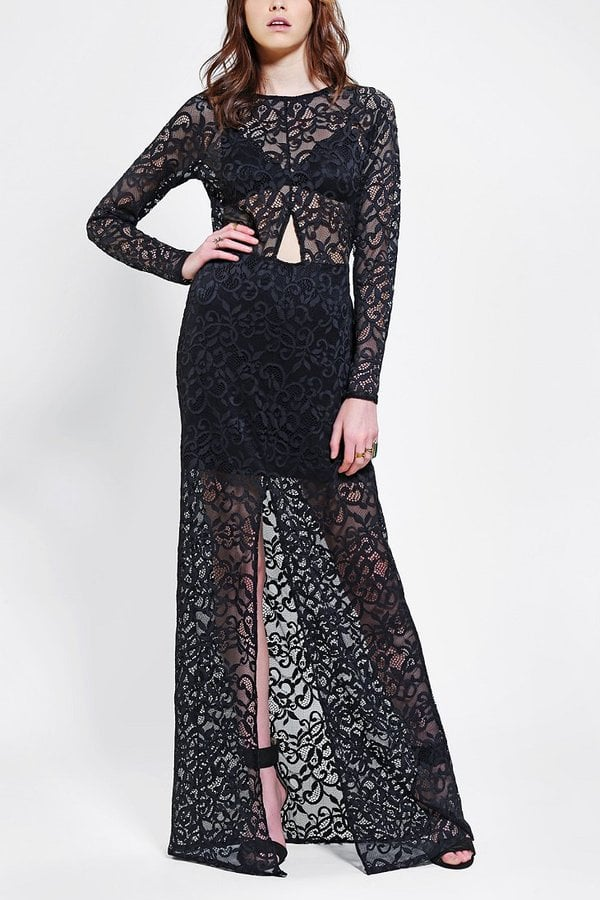 For Love & Lemons Black Lace Long-Sleeve Maxi Dress ($100, originally $270)