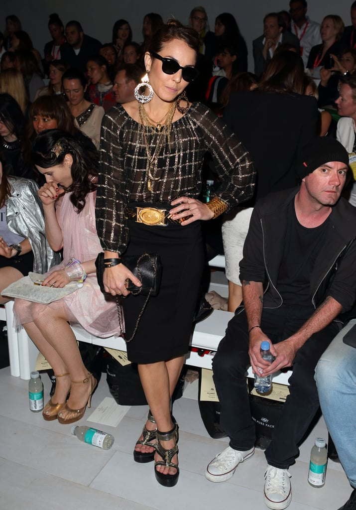 Noomi Rapace attended the Mark Fast show.