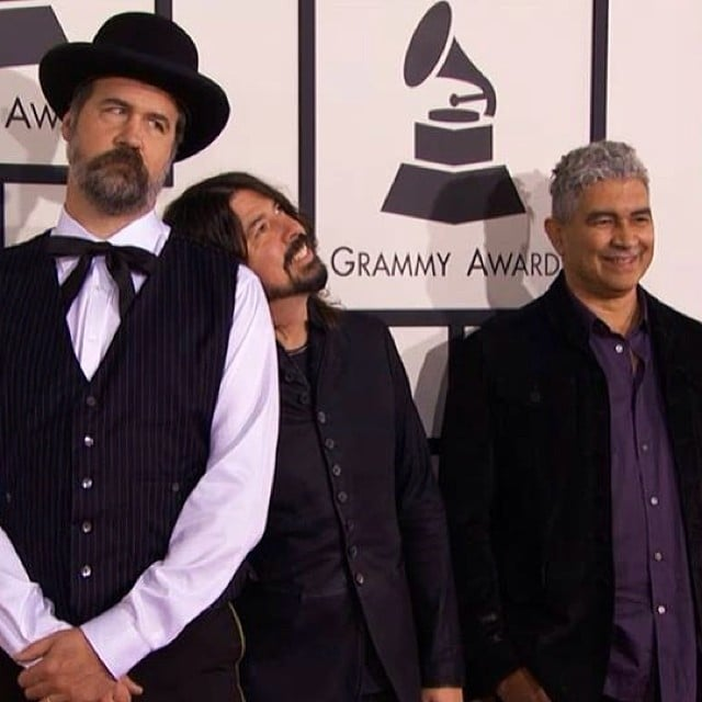 Foo Fighters hit the red carpet at the Grammys. Source: Instagram user foofighters