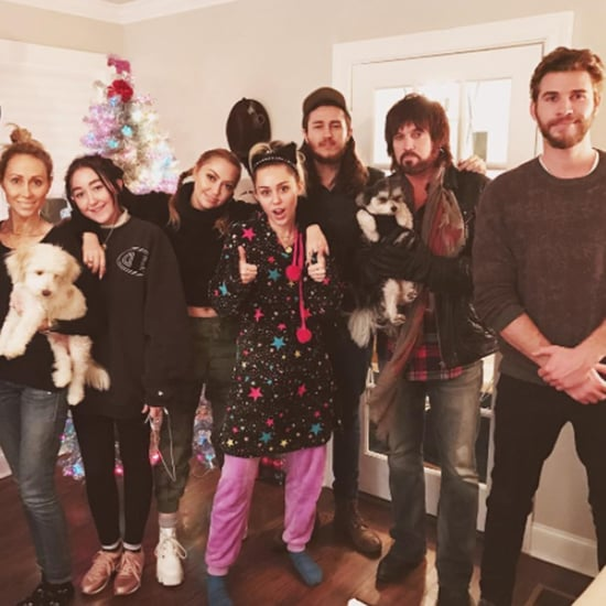 Liam Hemsworth With Miley Cyrus's Family For Christmas 2016