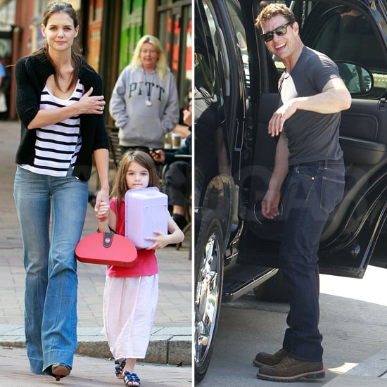 Katie Holmes and Suri Cruise Visit Tom Cruise Pictures