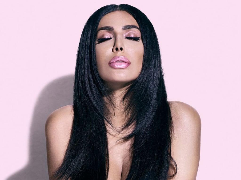Huda Kattan Wearing Huda Beauty Lip Strobe