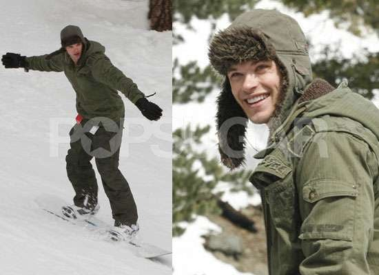 Photos of Kellan Lutz Snowboarding