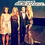 Kerry Washington, Nina Garcia, Zac Posen and Heidi Klum struck a pose together before the Project Runway finale show during NYFW. Source: Instagram user zac_posen