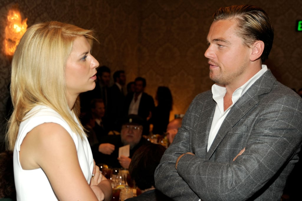 Leonardo DiCaprio and Claire Danes were in deep conversation during the AFI Awards in January 2012.