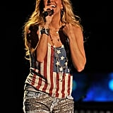 Carrie Underwood took her American pride to the stage in Nashville, TN, in June 2012.