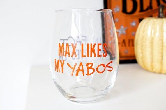Max Likes My Yabos Hocus Pocus Wine Glass