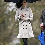 Kate Middleton wearing Burberry.