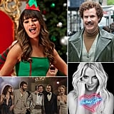 December is a historically epic month for entertainment, and this year is no exception. Several of the year's most-anticipated new films — including American Hustle, Anchorman 2: The Legend Continues, and The Wolf of Wall Street — are heading to theaters. Meanwhile, the small screen will be alight with Christmas episodes! POPSUGAR Entertainment has rounded up the most promising projects so you don't miss a beat.
